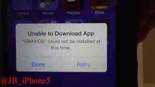 "getlinkyoutube.com-GBA4iOS -100% Fix - ""Unable to Download App"""