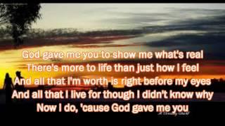 God Gave Me You - Bryan White - Lyrics