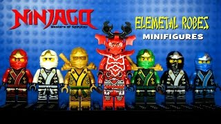 getlinkyoutube.com-LEGO Ninjago Elemental Robes Masters of Spinjitzu KnockOff Minifigures Set 5 (Bootleg)