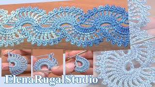 Crochet Tape Lace Tutorial 5 part 1 of 2 Crochet Motifs