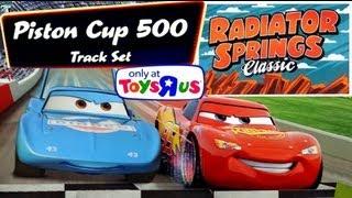 getlinkyoutube.com-Cars Piston Cup 500 Ultimate Race Track DisneyPixarCars Stunts & Crashes RadiatorSpringsClassic
