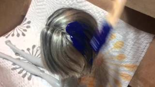 getlinkyoutube.com-How to dye your dolls hair(washable)