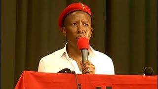 Malema addresses Ground Forces Forum in Westenberg, Limpopo