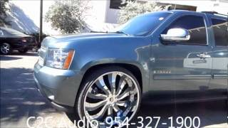 "AceWhips.NET- Chevy Tahoe on 30"" Inferno Forgiatos at C2C For Audio Work"
