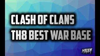 getlinkyoutube.com-Clash Of Clans - Best TH8 War Base(Anti-dragon,hogs)