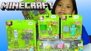 getlinkyoutube.com-Minecraft Overworld Toys Steve, Alex, Minecraft Animal Mobs - Kids' Toys