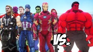 THE AVENGERS VS RED HULK - EPIC SUPERHEROES BATTLE | DEATH FIGHT