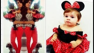 getlinkyoutube.com-Look do Aniversário (O que a Maria Sophia e a Mamãe usaram) Tema: Minie Vermelha 1 aninho!