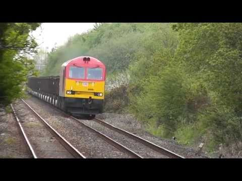 60039 through Bynea on 6B03 Trostre to Margam steel empties 03/05/2014