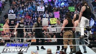 getlinkyoutube.com-Roman Reigns, Dean Ambrose & Chris Jericho vs. Bray Wyatt, Harper & Rowan: SmackDown, Jan. 28, 2016