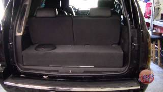 getlinkyoutube.com-Crazy Stereo Yukon Denali Custom Box Rockford Fosgate Amp Subwoofer