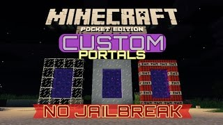 getlinkyoutube.com-✔️[0.12.1] CUSTOM NETHER PORTALS {MCPE} | NO Jailbreak and NO computers!