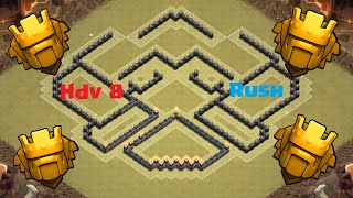 getlinkyoutube.com-Clash Of Clans - Village Hdv 8 Rush