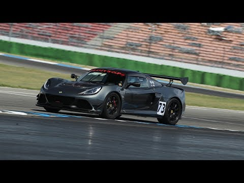 Hockenheimring GP | Near spin at Nordkurve chasing a Porsche GT3 | Lotus Exige Cup 380 | August 2018