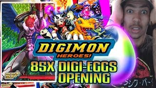 Digimon Heroes - 85x Digi-Eggs Opening! Beelzebumon X-Antibody & So Many SP+!!!!