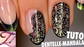 getlinkyoutube.com-Tuto nail art mandala dentelle d'automne