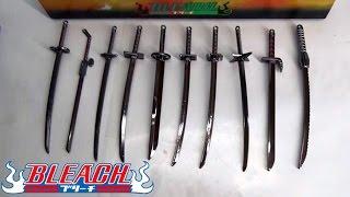 getlinkyoutube.com-Bleach Sword Keychain Set 10pcs
