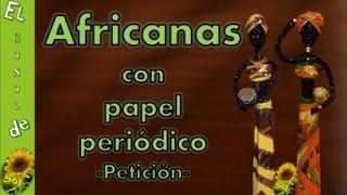 getlinkyoutube.com-Africanas con papel periódico - petición