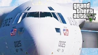 getlinkyoutube.com-GTA 5 SP #32 - C-17A Globemaster III Mod
