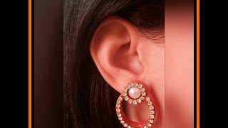 getlinkyoutube.com-How to Make Quilling Chandbali Style Earrings/Design 1/Tutorial