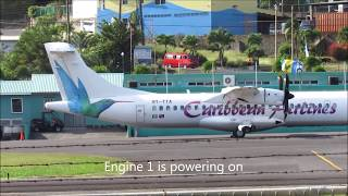 getlinkyoutube.com-RARE!!! Caribbean Airlines ATR 72-600 Action @ E.T Joshua (1080p)