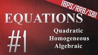 Equations 1 (SBI/IBPS PO/Clerk 2015)