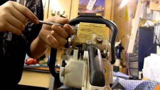getlinkyoutube.com-compression test on the Stihl ms260 chain saw