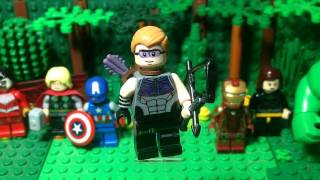 getlinkyoutube.com-Lego MARVEL: Hawkeye- Custom Minifigure