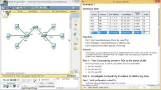 getlinkyoutube.com-6.2.3.7 - 3.2.4.7 Packet Tracer - Troubleshooting a VLAN Implementation - Scenario 1