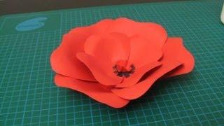 getlinkyoutube.com-DIY - Poppy flower made of paper