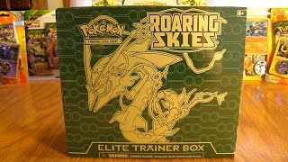 getlinkyoutube.com-Mega Rayquaza Roaring Skies Elite Trainer Box Opening