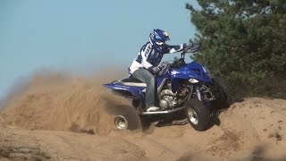 getlinkyoutube.com-YAMAHA RAPTOR 700 QUAD ATV (RD32 II) SKWIERZYNA RIDING MOVIE FULL HD SPEED 140 KM/H