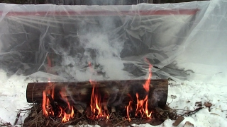 getlinkyoutube.com-Easy Portable Survival Shelter For Extreme Cold