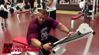 getlinkyoutube.com-JAY CUTLER   BACK AND ABS WORKOUT 5 WEEKS TO 2013 MR OLYMPIA