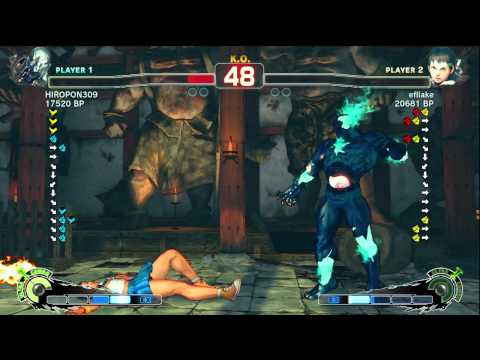 Uryo [Sakura] vs HIROPON309 [Seth] SSF4 Japanese Online Ranked Matches - TRUE-HD