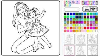getlinkyoutube.com-Barbie Coloring Games Online Free