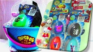 getlinkyoutube.com-Easter Eggs: Hello Kitty Surprise Eggs, Furby Boom Surprise Eggs Pac-man Surprise Toys