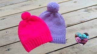 getlinkyoutube.com-Crochet:Bonnets unisex super faciles et toutes tailles / Gorros tejidos a crochet super facil !