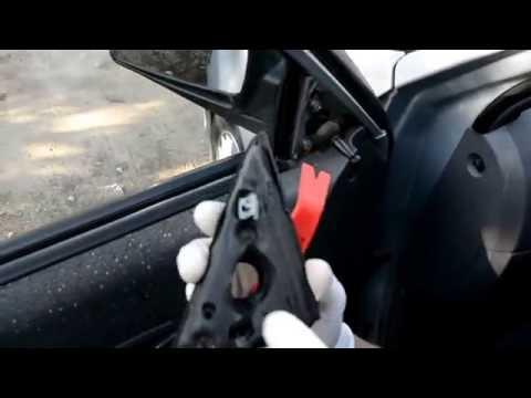 Hyundai Accent 2. Как снять внешнее зеркало заднего вида?