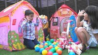 getlinkyoutube.com-ぽぽちゃん おもちゃ メルちゃんのおうち 家 Baby Doll Popochan Mellchan House Toy