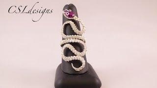getlinkyoutube.com-Wirework snake ring