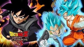 getlinkyoutube.com-Goku y Vegeta VS BLACK GOKU Dragon Ball Z Budokai Tenkaichi 3 Latino MODS