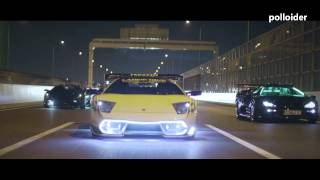 Los Lamborghinis tuneados de la mafia japonesa por Tokyo - Lambo tuning leds