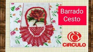 getlinkyoutube.com-Pano de prato cesta em crochê ( parte 1) # Elisa Crochê