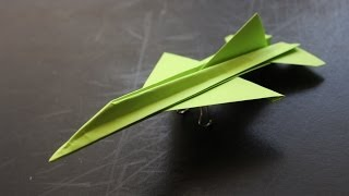 getlinkyoutube.com-How to make a cool paper plane origami: instruction| F16