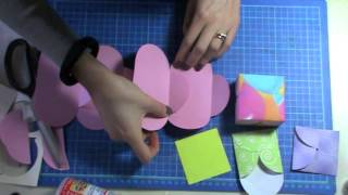 getlinkyoutube.com-Scrap Tutorial: Card petal dies Sizzix/Big Shot/ Multifunzione - Lartevistadame