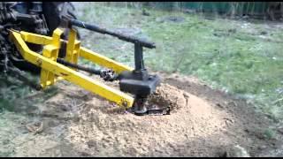 getlinkyoutube.com-Ямобур для сельскохозяйственных работ в действии