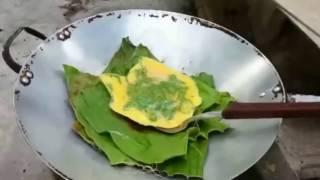 Unik, Goreng Telor Dadar Tanpa Minyak Sayur