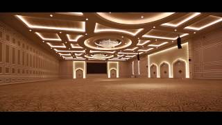 getlinkyoutube.com-WEDDING HALL COMPLEX - DOHA , QATAR Indoor Lighting