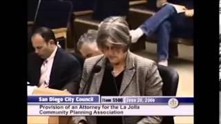 In 2006 Sherri Lightner, in front of the City Council complained about the operation of the LJCPA. Guess what the same complaints are being filed today.
